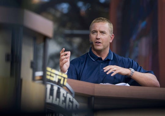 ESPN analyst Kirk Herbstreit moved from Columbus, Ohio, to Brentwood.