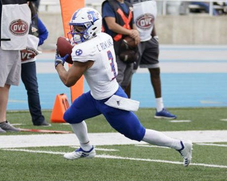 TSU leading receiver Chris Rowland suffered a chest injury in last week's game at Eastern Illinois and might not be able to play this week at Vanderbilt.