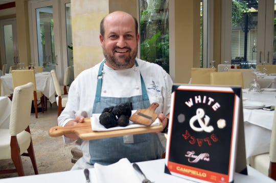 Chef Mike Dalton with black truffles at Campiello on Third Street South in downtown Naples.