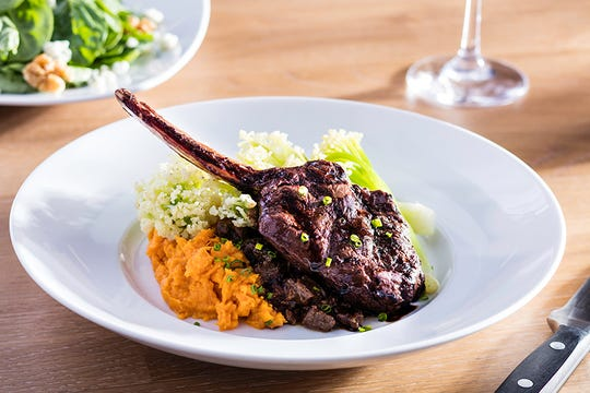 A venison chop is one of the entrees on the fall flavors menu at Seasons 52.