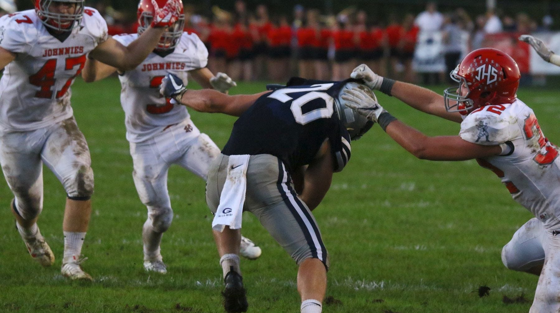 Mature sophomore Lusk rare two-way player for Johnstown