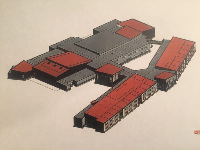 A rendering of the new Licking Heights High School.