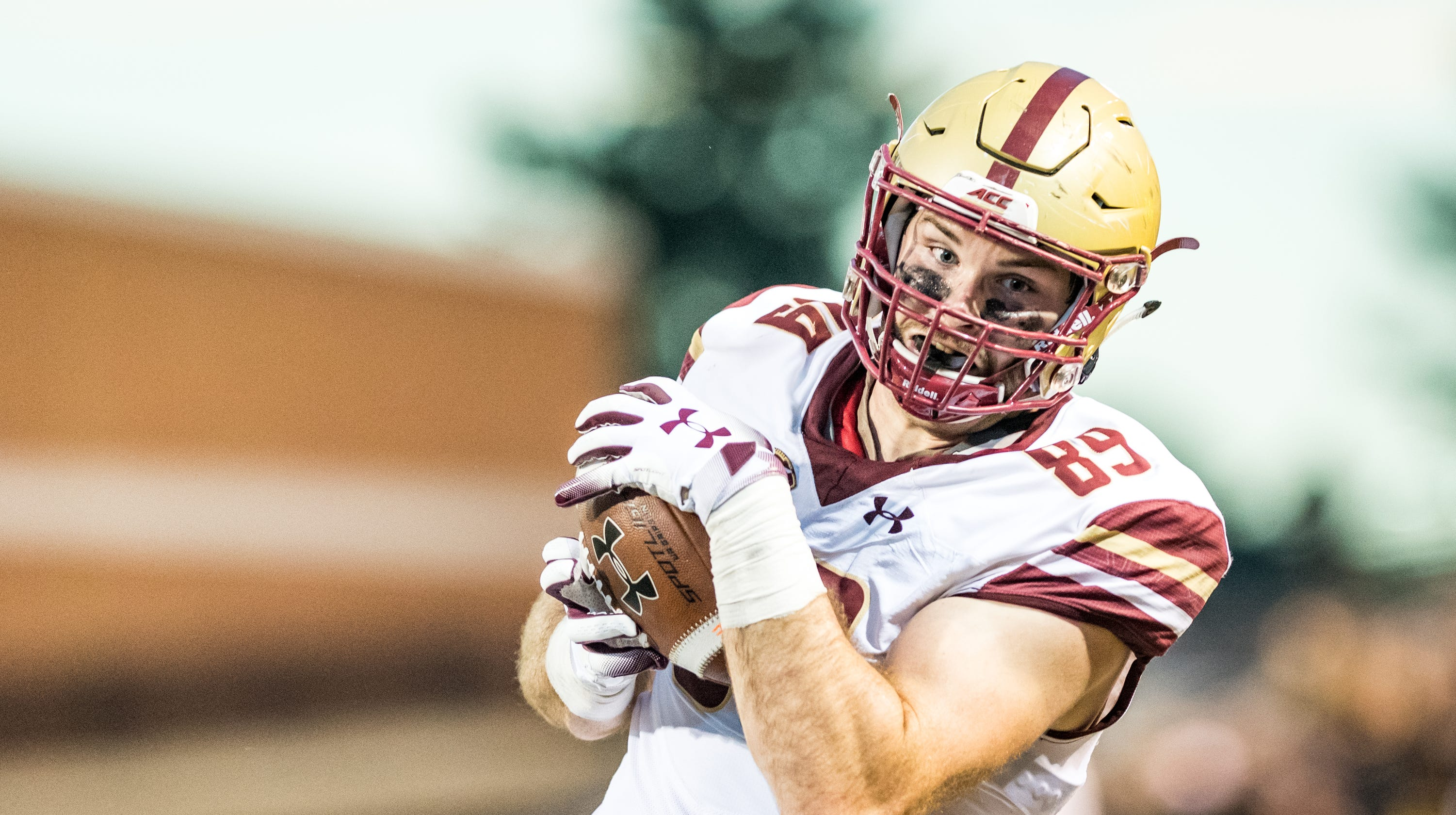 finest selection 5b489 1c912 Tommy Sweeney, of Don Bosco NJ, leading for Boston College ...
