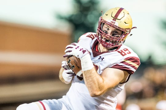 Boston College tight end and former Don Bosco star Tommy Sweeney.