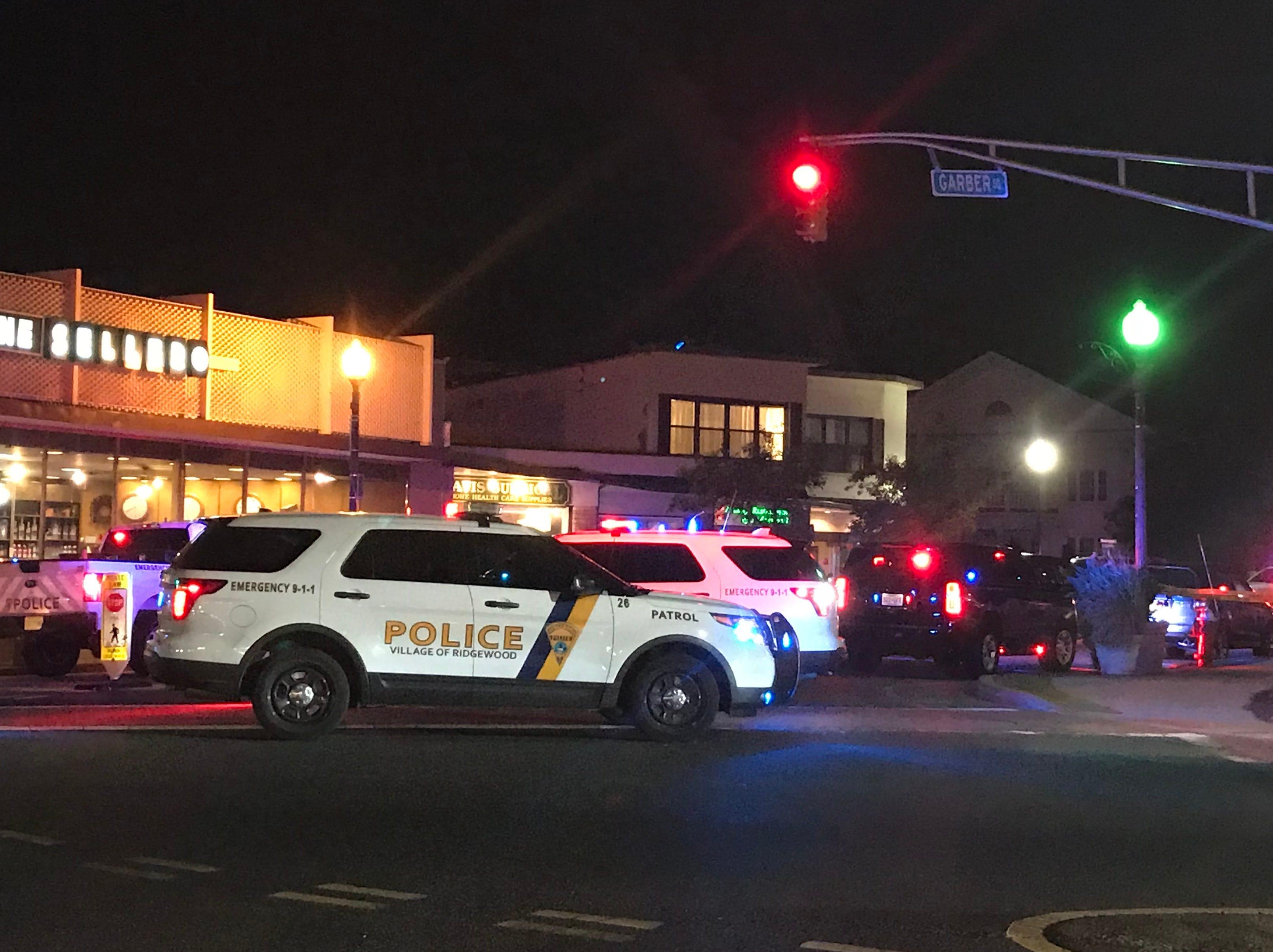 Ridgewood police investigate a man struck on West Ridgewood Avenue Sept. 24, 2018.