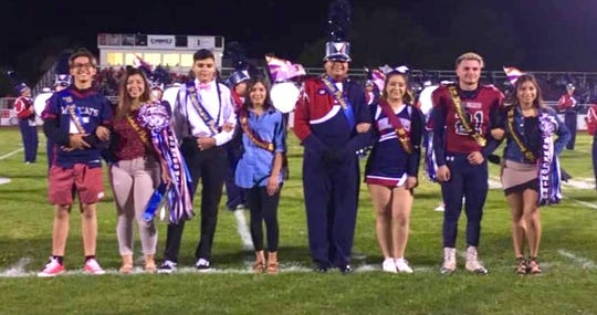 The DHS Homecoming for 2018 is, pictured from left, Davy May and Nayeli Trujillo, freshmen prince and princess; Tico Castillo and Rachel Morales, sophomore prince and princess; German Lozano and C.J. Almanza, junior prince and princess; and Gabriel Reza and Kianna Gomez, senior king and queen.