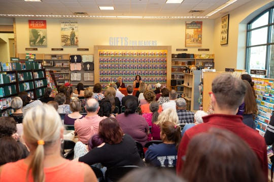 """A large crowd of more than 100 people attended the """"Storm Runner"""" book signing event held at Barnes & Noble on Saturday, September 22, 2018."""