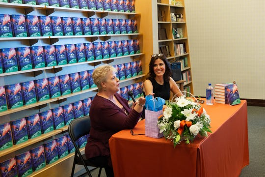 """Cheryl Graves introduces Jennifer Cervantes at the start of her book signing event held at Barnes and Noble. Her book, """"Storm Runner"""" is No. 1 on Amazon's Latin America Folk Tales Chart. The event was held on September 22, 2018."""