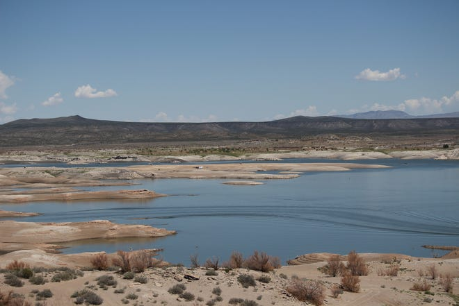 Elephant Butte Reservoir on Sept. 10, 2018, at 3.7 percent capacity. It has since dropped down to 3.0 percent capacity, or less than 60,000 acre feet of water.