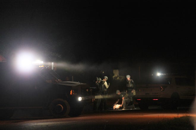 A female subject was taken into custody following a three-hour standoff on Post Avenue Monday evening. Nobody was hurt in the incident, said APD Chief Brian Peete.