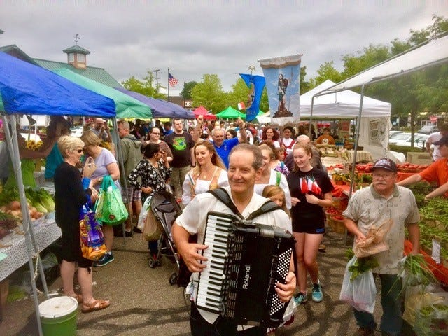 David Passalacqua will stroll Saturday's farmers market with his accordion during the second annual Italian-American Day.