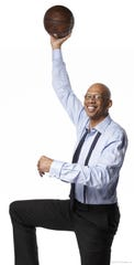 Kareem Abdul-Jabbar, showing off his famous sky hook, will speak at Morongo Casino on Oct. 5, discussing his life and the many mentors that have shaped him into the man he is today.