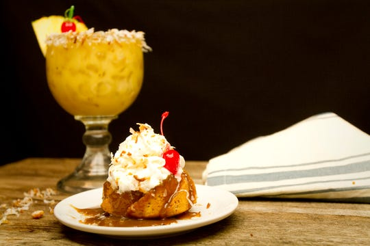 Cheddar's Painkiller Mini Cake   was inspired by one of the restaurant's most popular cocktails, The Painkiller.