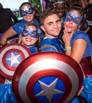 The Superhero and Villain Bar Crawl is set for downtown Pensacola on Oct. 6, 2018. Participating venues include O'Rileys Irish Pub, End O' The Alley at Seville Quarter, PLAY, Blend Lounge, World of Beer, and Phineas Phoggs at Seville.