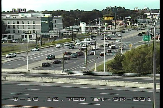 A Florida  Department of Transportation camera shows the scene of crash and shooting on Tuesday, Sept. 25, 2018