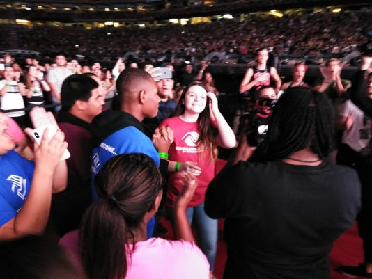Mikayla Lowry at Jay-Z and Beyonce concert