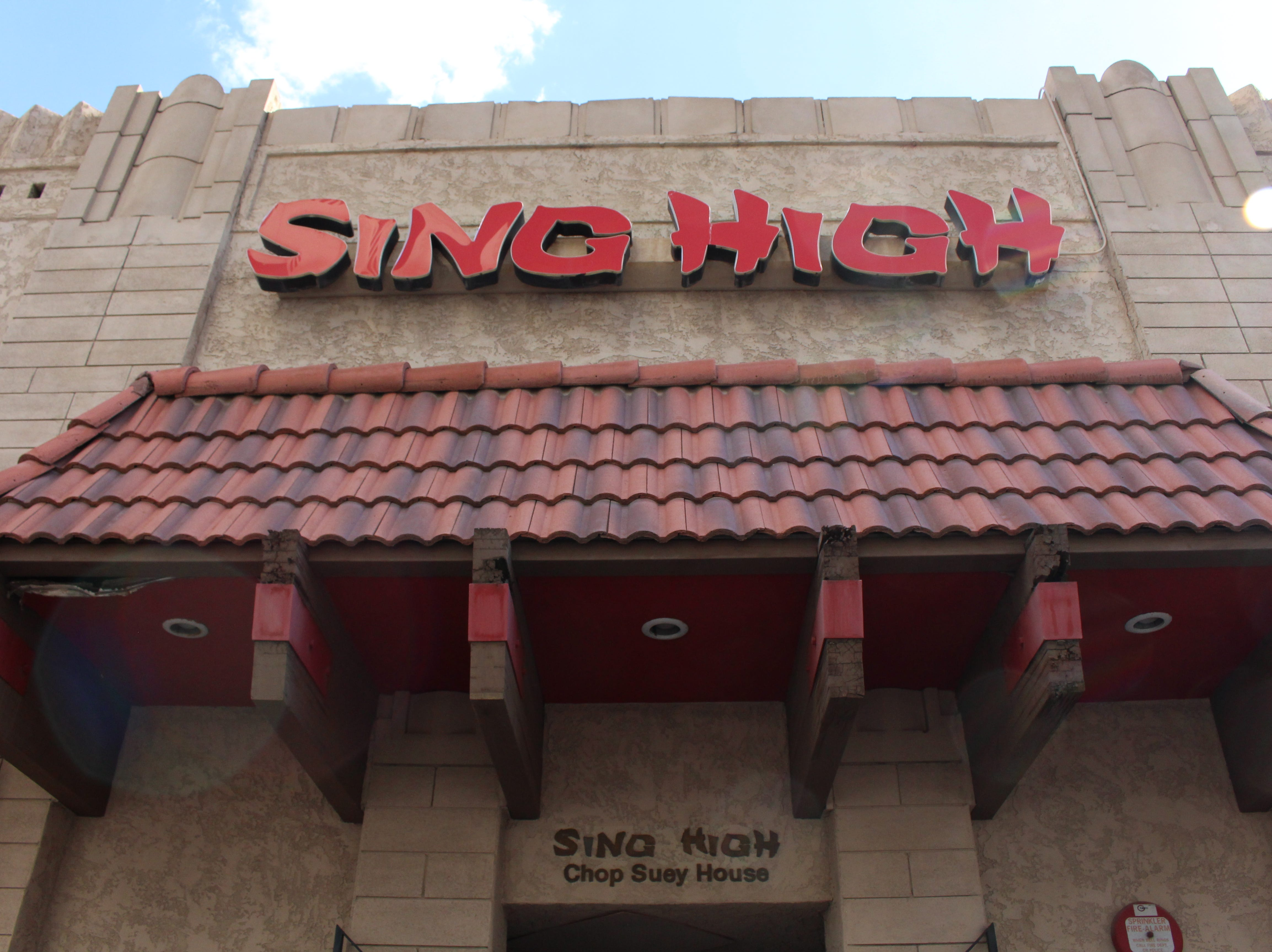 The exterior of Sing High Chop Suey House restaurant in Phoenix.