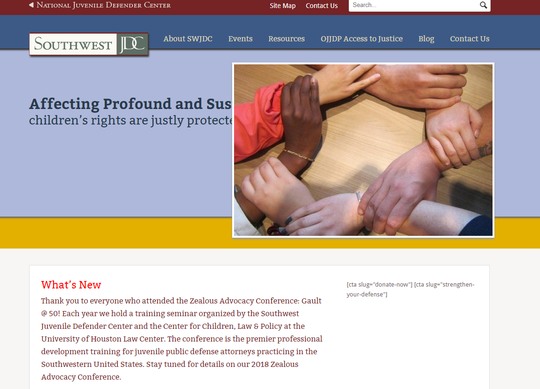 The Southwest Juvenile Defender Center website states that its mission is to defend and promote justice for all children.