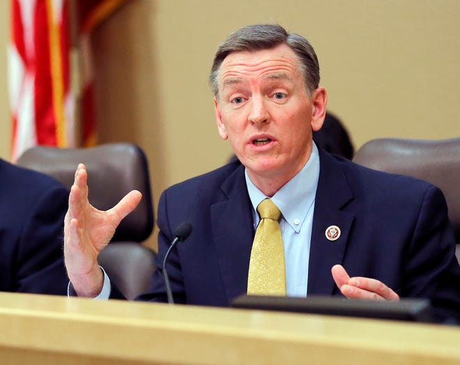 U.S. Rep. Paul Gosar, R-Ariz., speaks during a Congressional Field Hearing on the Affordable Care Act in Apache Junction in December 2013.