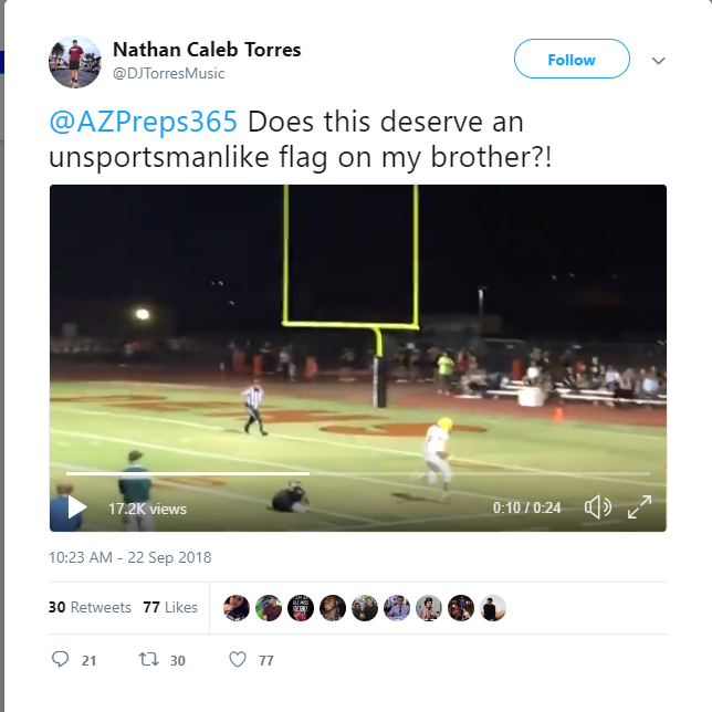 Peoria senior to miss homecoming football game after ejection for high-stepping touchdown