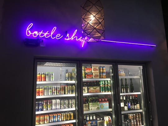 The bottle shop at Rott n' Grapes RoRo in downtown Phoenix.