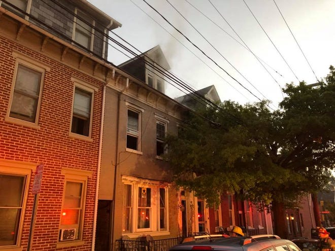 York City Police are investigating a fire that happened in the 300 block of West King Street on Sept. 16. Photo courtesy of York City Fire Department.