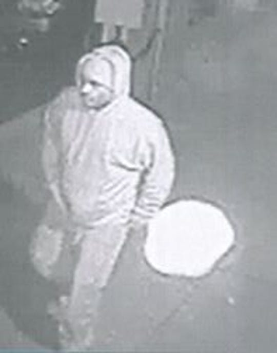 York City Police are searching for this man in connection to an arson in the 300 block of West King Street on Sept. 16. Photo courtesy of York City Police.