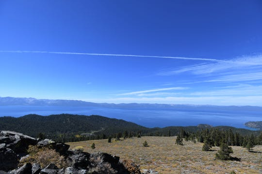 Lake Tahoe from the Tahoe Rim Trail south of Spooner Summit on Sept. 22, 2018.