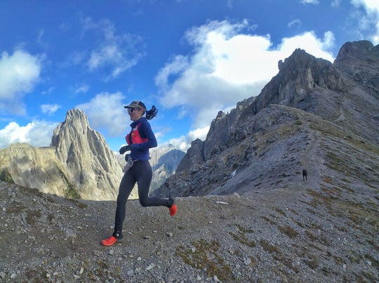 Trail runner Patricia Franco in Banff, Alberta on Sept. 5, 2018.