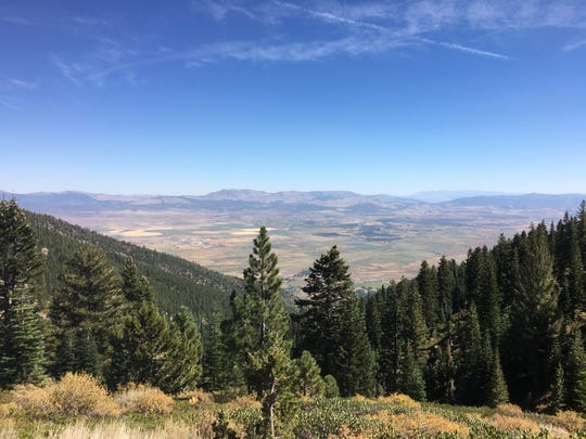 The Carson Valley seen from near the top of Sierra Canyon on Sept. 22, 2018.