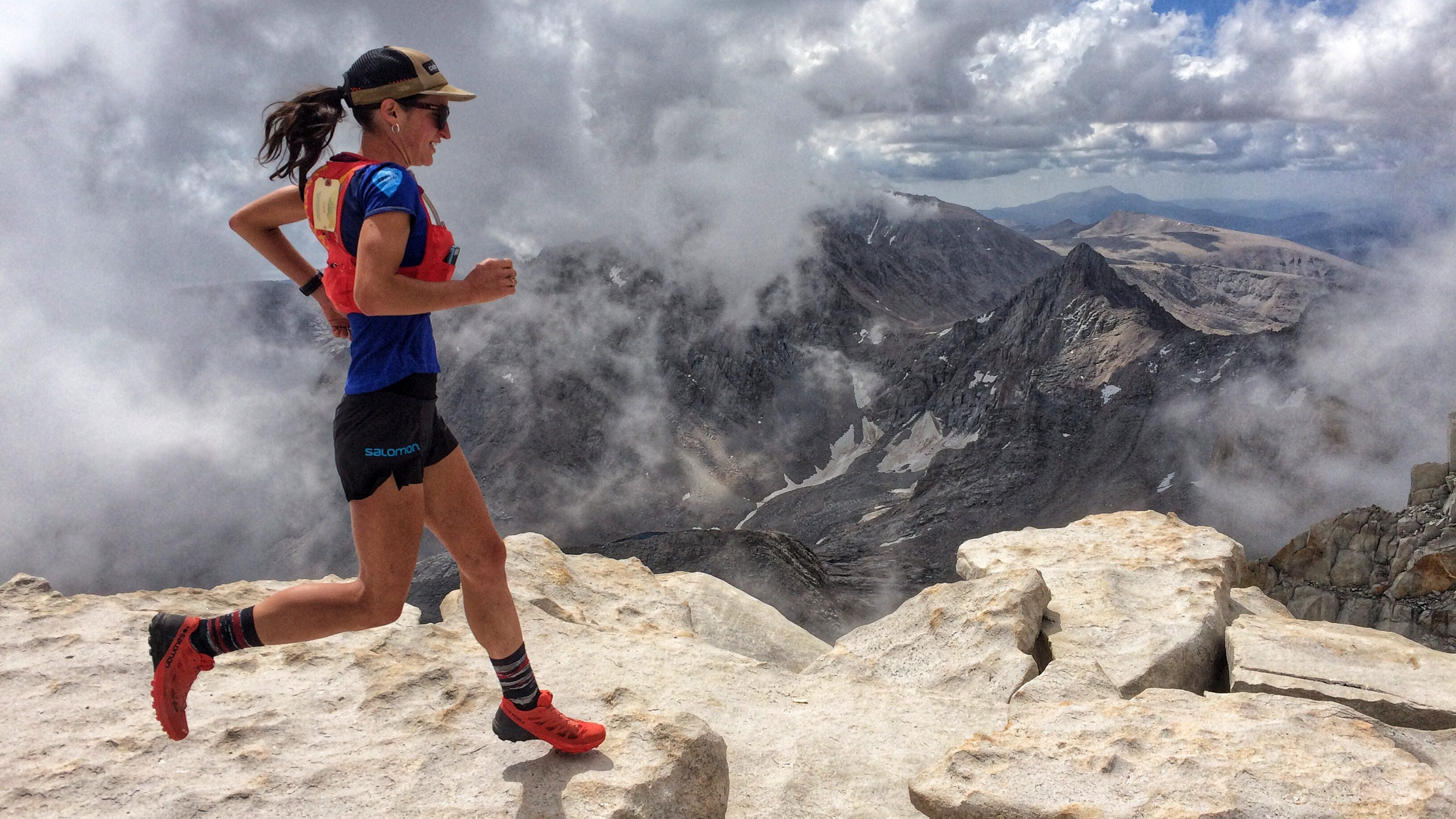 Patricia Franco, 26, near the summit of Mt. Whitney, the highest point in the lower 48 states on July 20, 2018. Less than a month later Franco set a fastest known time on Whitney's Mountaineer's Route.