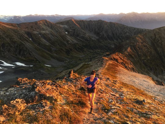 Trail runner Patricia Franco in Girdwood, Alaska on Sept. 13, 2018. In August, Franco set a fastest known time on the Mt. Whitney Mountaineer's Route.