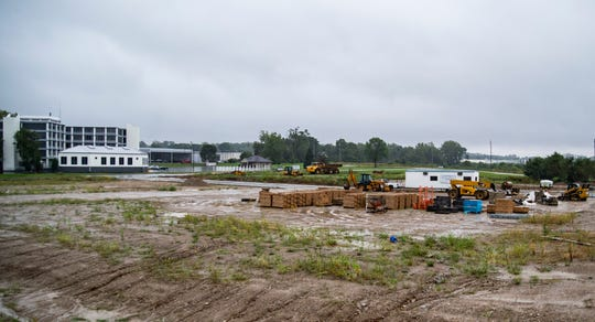 A new commercial development along National Road East is seen on Tuesday, Sept. 25, 2018.