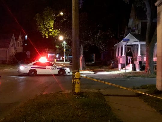 Rochester Police investigate on Child Street after a man was shot nearby.