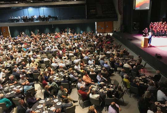 The annual State of the City luncheon was a sell-out in 2018 at the Redding Civic Auditorium.