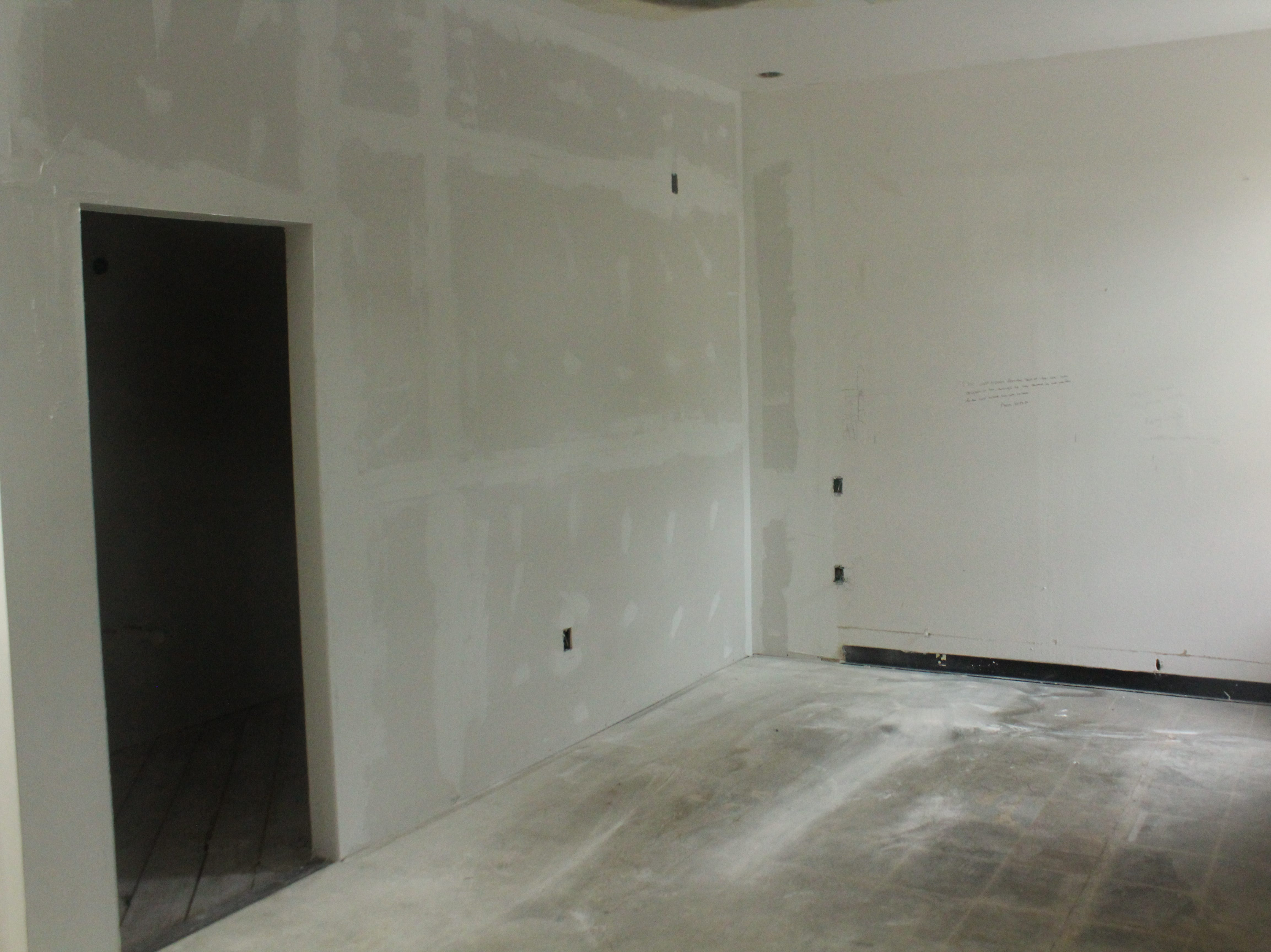 One of the four rooms being constructed at Old Central Firehouse Bed and Brew, 200 S. Magdalen St.