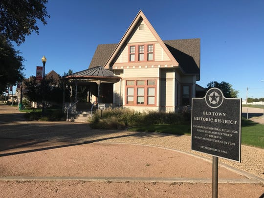 """The Allen-Hartgrove House — shown in Old Town San Angelo on Monday, Sept. 24, 2018 — was originally owned by George Allen. George Allen was known as """"the man who brought music to San Angelo"""" and came to San Angelo with intentions of going into the sheep business. Instead, Allen opened a music store – the only music store west of Fort Worth and east of El Paso. The Allen-Hartgrove house was built in 1909 and is Queen Anne style. The house was originally built at 418 W. Twohig Ave., later moved to the Hartgrove Family Ranch in the 1970s, and finally relocated to Old Town Historic District in 1998. It is occupied by the Association of Asian-American Women."""