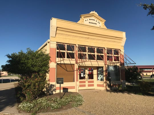 The A.J. Baker Bank Building — shown in Old Town San Angelo on Monday, Sept. 24, 2018 — was built in 1885 for Col. Baker, who served as Texas Land Commissioner, and relocated to Old Town in 1995. It was designed by Oscar Ruffini and is occupied by Vino Dipinte, a paint-and-sip gallery.