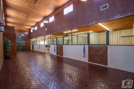 The inside of the stables at 1543 Butler Drive comes with a surveillance system.