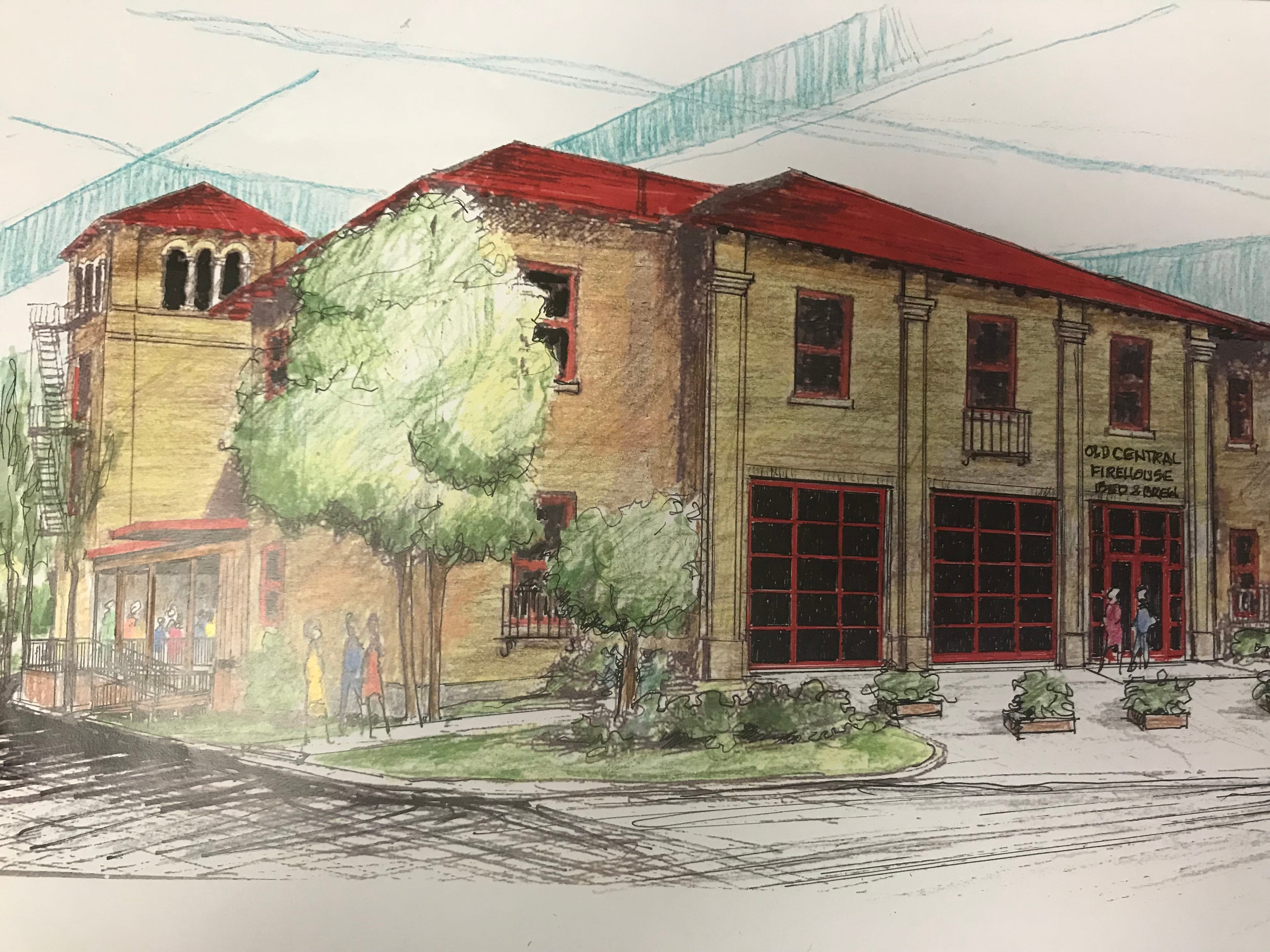 Future exterior of the Central Firehouse Bed and Brew, 200 S. Magdalen St.
