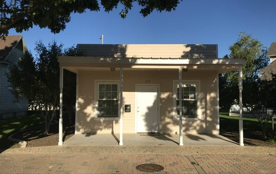 The Camuñez Family Grocery — shown in Old Town San Angelo on Monday, Sept. 24, 2018 — was built in 1928, was donated by Eva Camuñez Tucker and restored at Old Town in 2003. It is occupied by an art gallery.