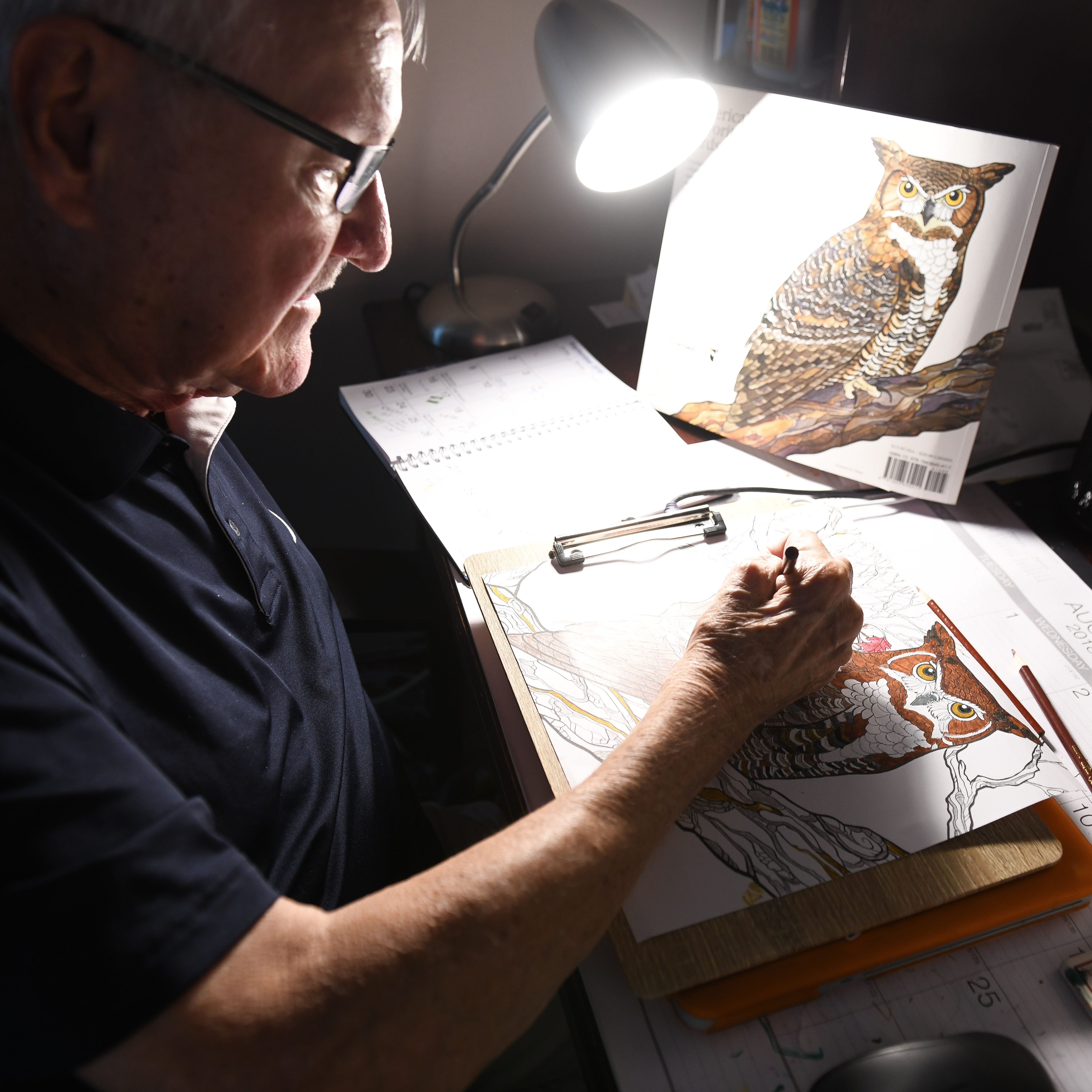 After losing his left arm, Ocean Pines man finds a passion for art
