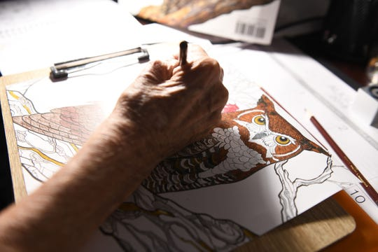 After losing his left arm from a bacterial infection, Chuck Ertel used art to help him recover.