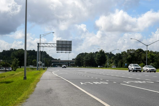Vehicles drive on Route13 where the Salisbury bypass enters the road by the Centre at Salisbury. Wicomico County has asked Maryland Department of Transportation to study this intersection.