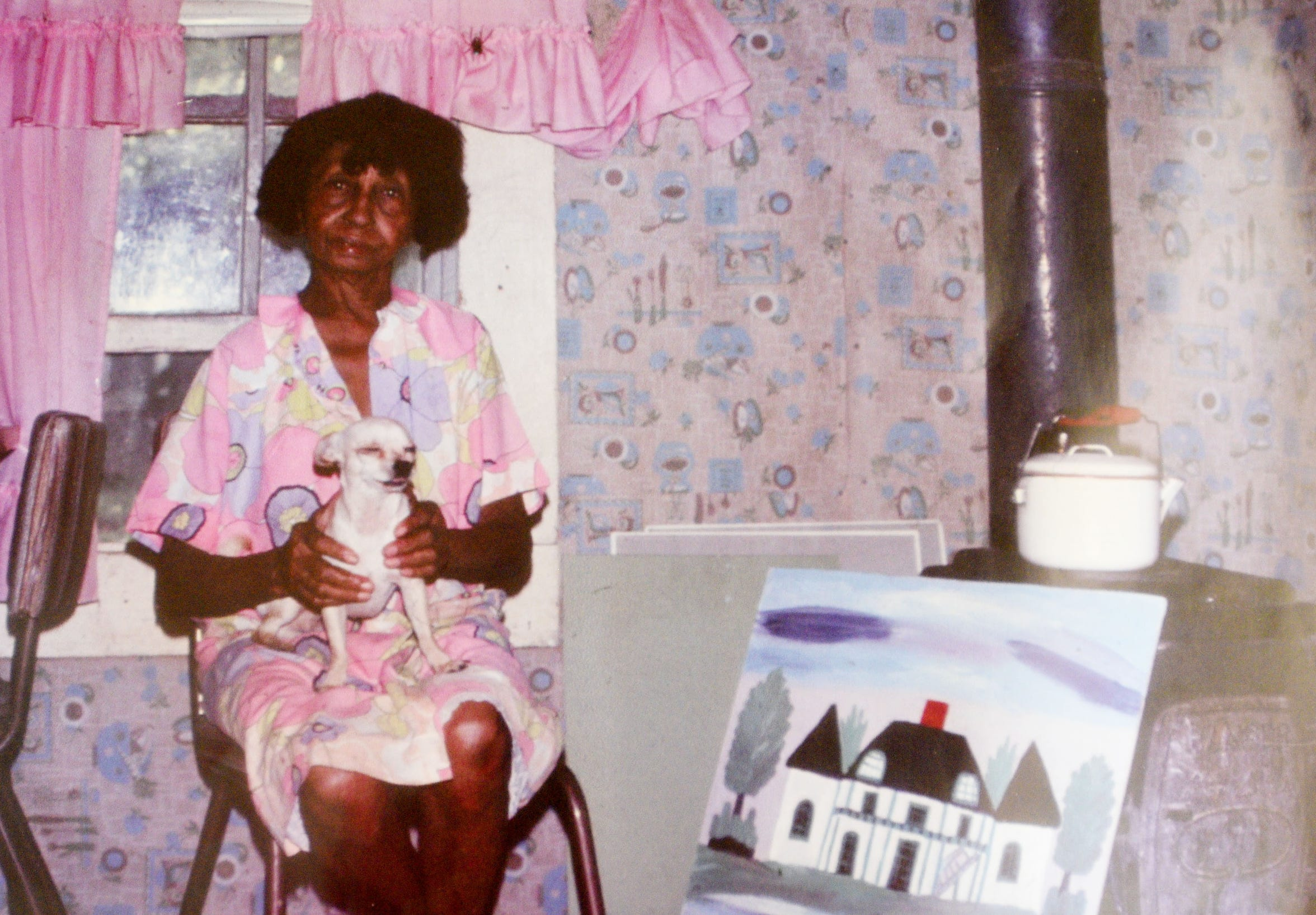 The photo that Tommy Whitehead took of Clementine Hunter in her house on Melrose Plantation.