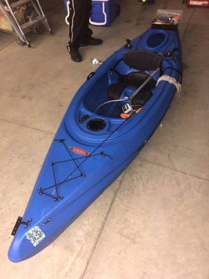 The Lake County Sheriff's Office is searching for the owner of a kayak found empty in Lake Madison.