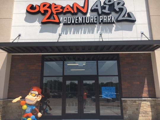 The front door of an Urban Air Adventure Park, which plans to open a new location in Springfield.
