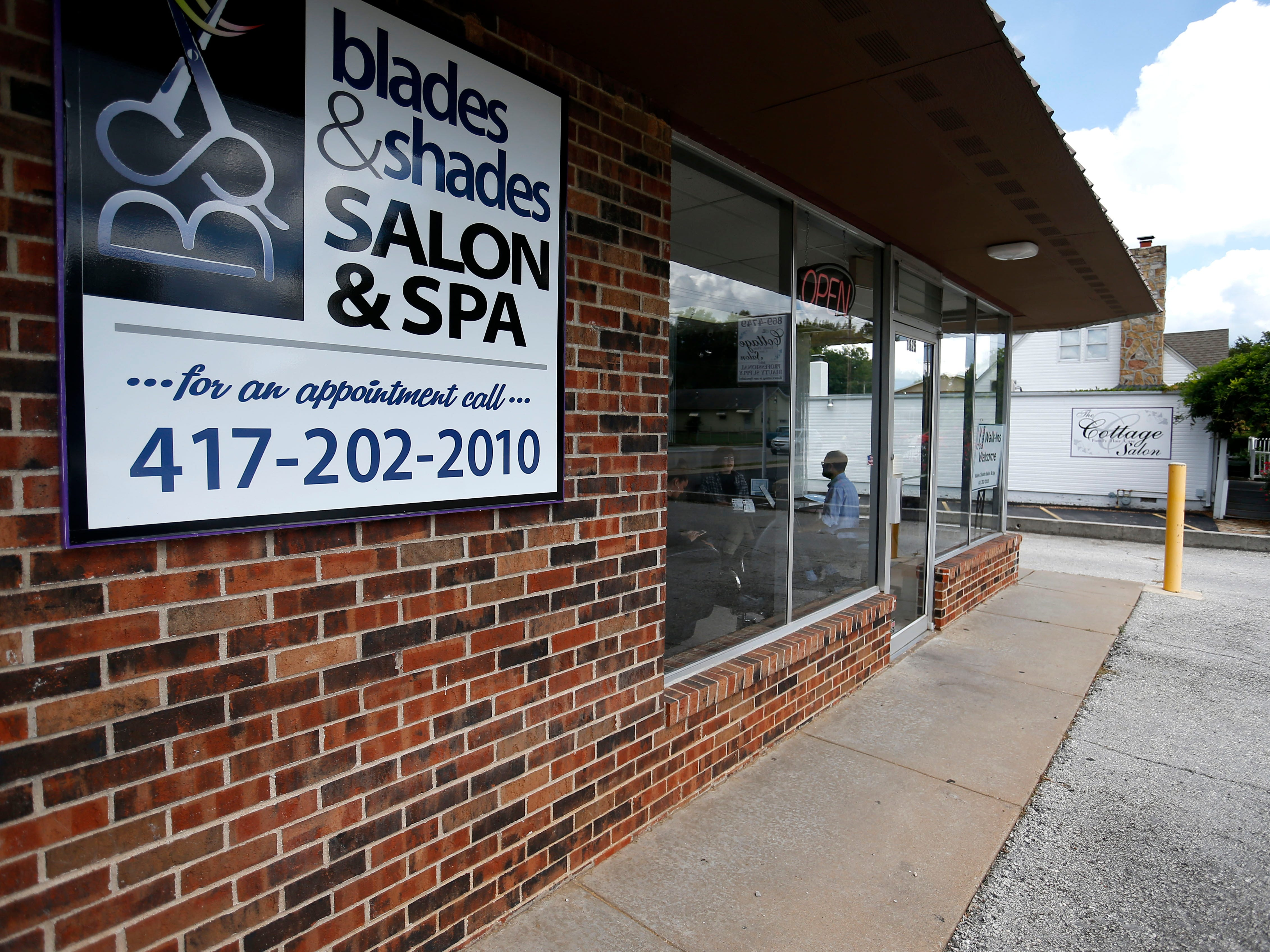 Blades & Shades salon located on East Cherry Street opened in January. The salon is owned by a 16-year-old Parkview High School student.