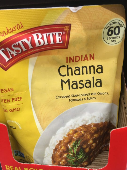 I serve this Channa Masala as a side dish to my Indian meals. Microwave it for 60 seconds and it's done.