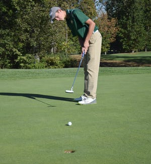 Wilson Memorial's Patrick Smith carded a 2-over-par 72 at Heritage Oaks Golf Course in Harrisonburg, Va., to lead the Green Hornets to the team title at the Shenandoah District golf tournament on Tuesday, Sept. 25, 2018.